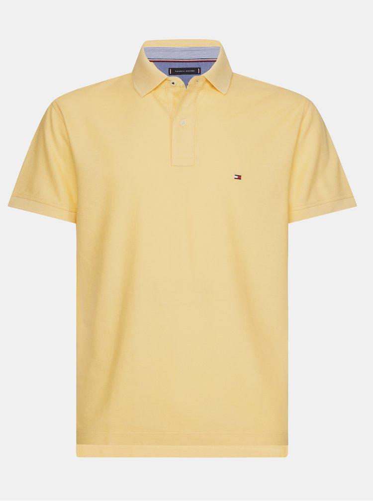 Žluté pánské basic polo tričko Tommy Hilfiger