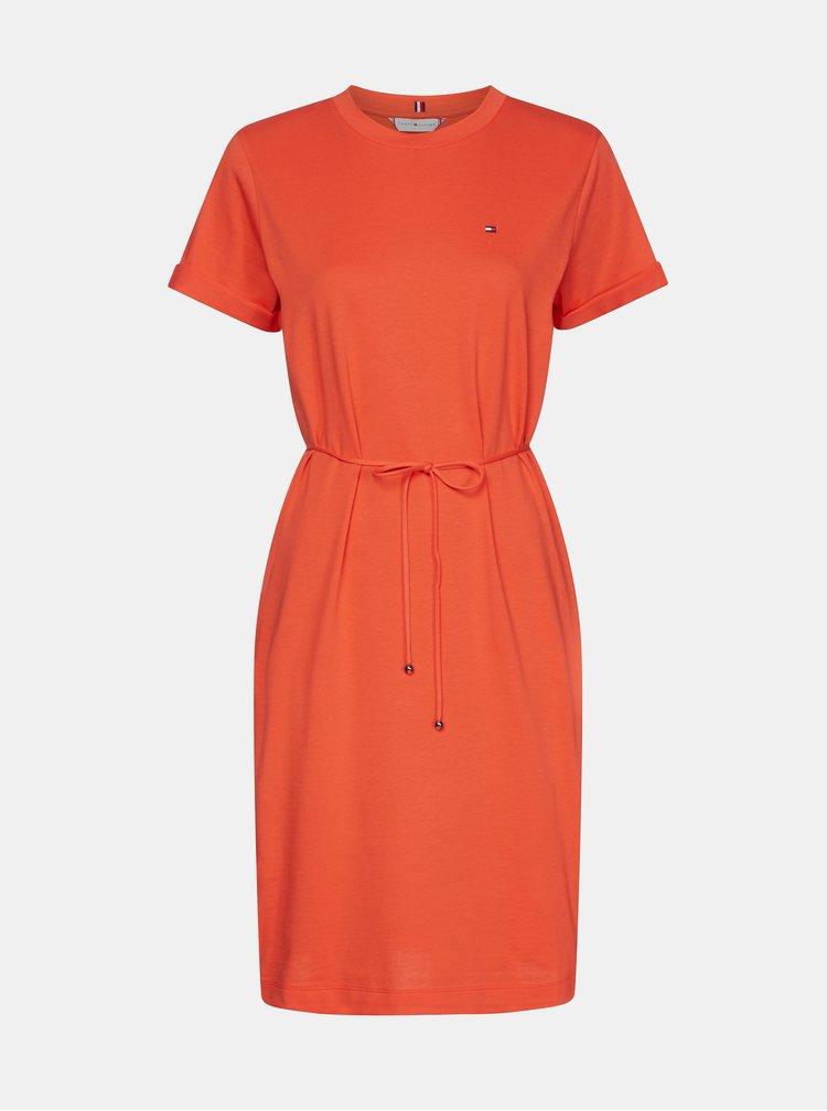 Červené šaty Tommy Hilfiger