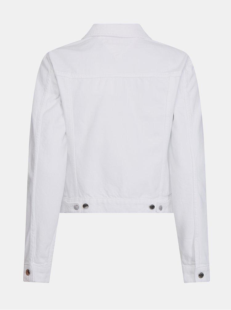 Bílá dámská džínová bunda Tommy Hilfiger