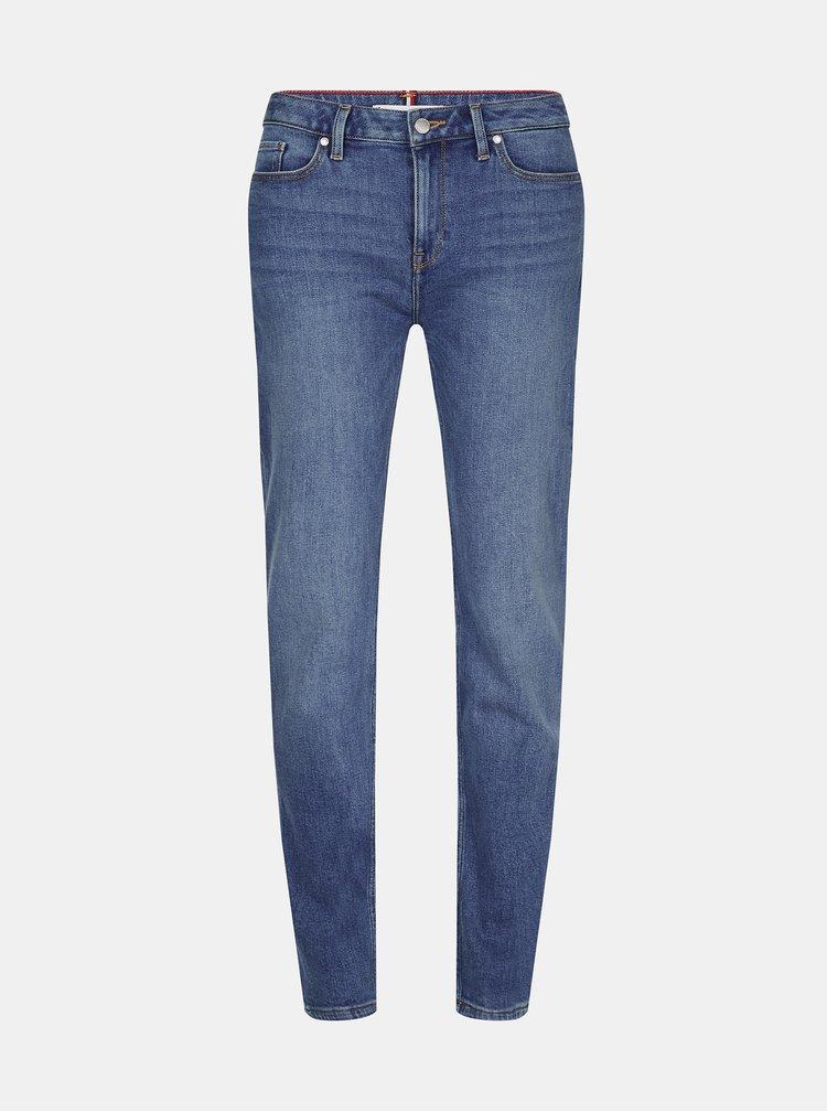 Modré dámské straight fit džíny Tommy Hilfiger