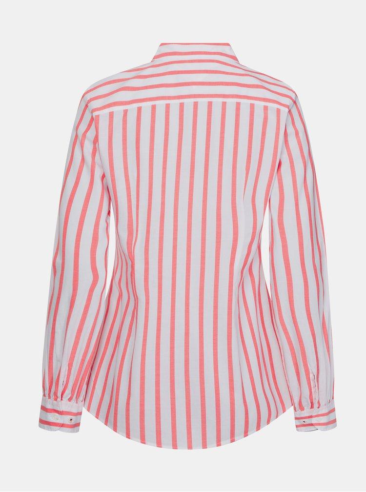 Růžová dámská pruhovaná košile Tommy Hilfiger
