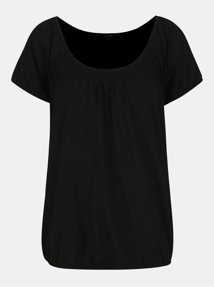 Černé basic tričko s kulatým výstřihem Yest