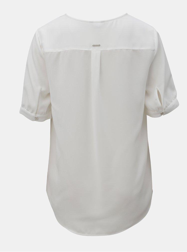 Bluza alba cu decolteu in V Nautica