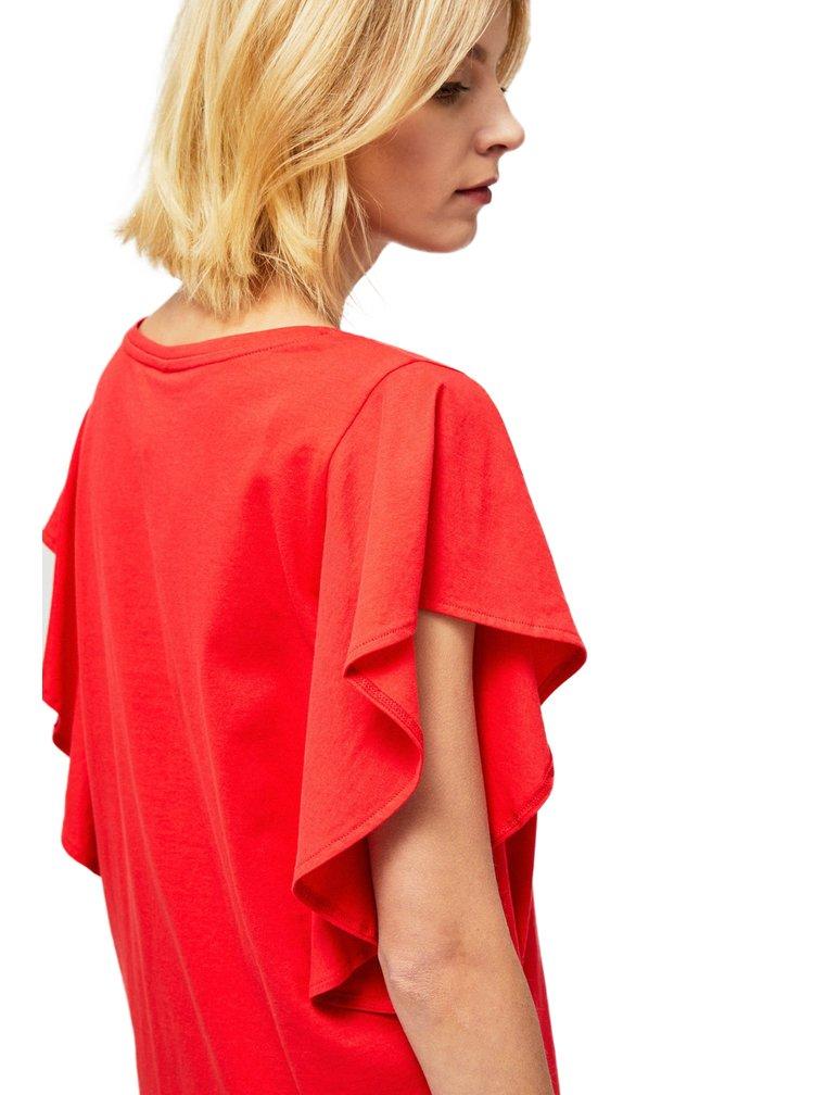 Moodo červené tričko s volány