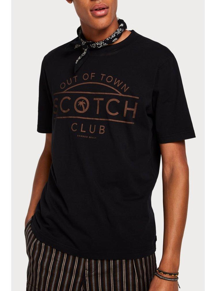 Scotch & Soda černé tričko s logem
