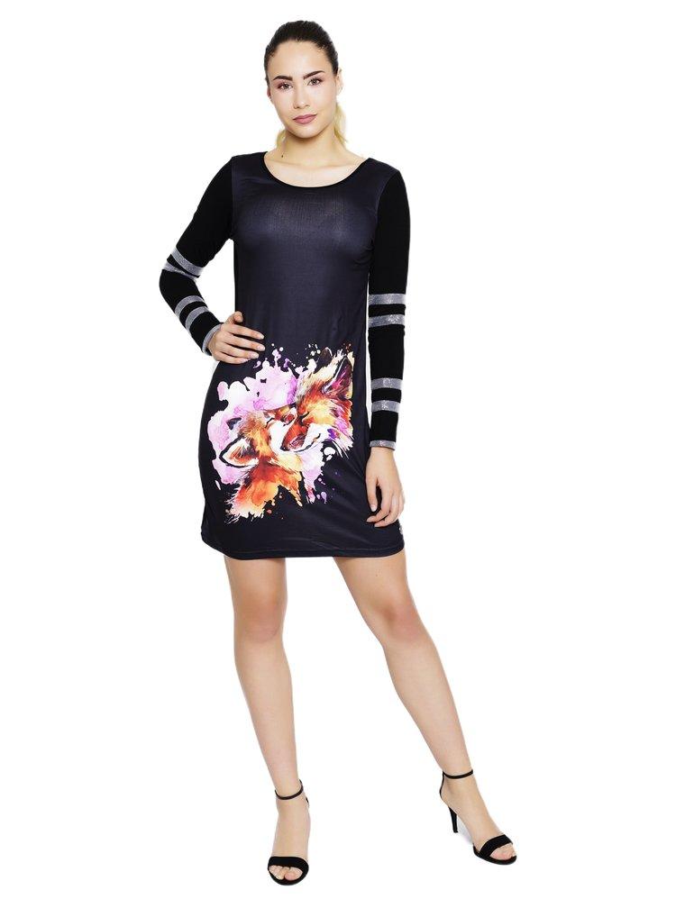 Culito from Spain černé šaty Laura Pausini s liškami