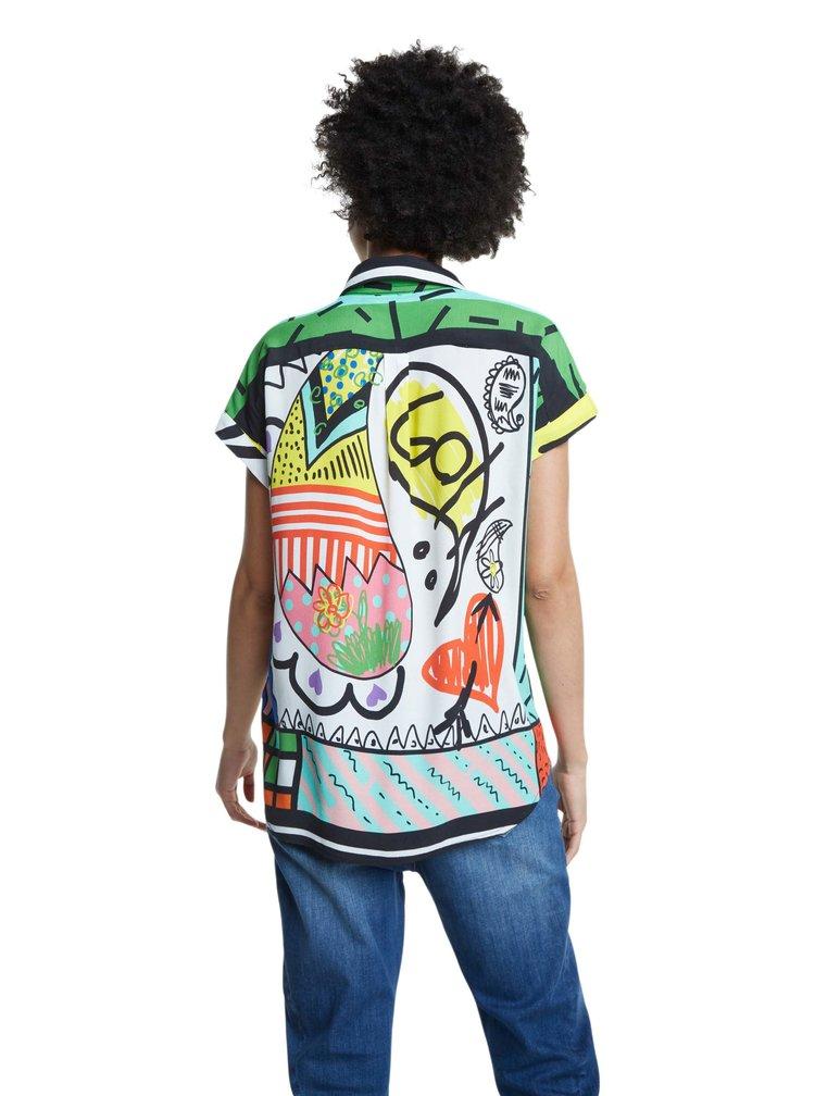 Desigual barevná košile Cam Calabria