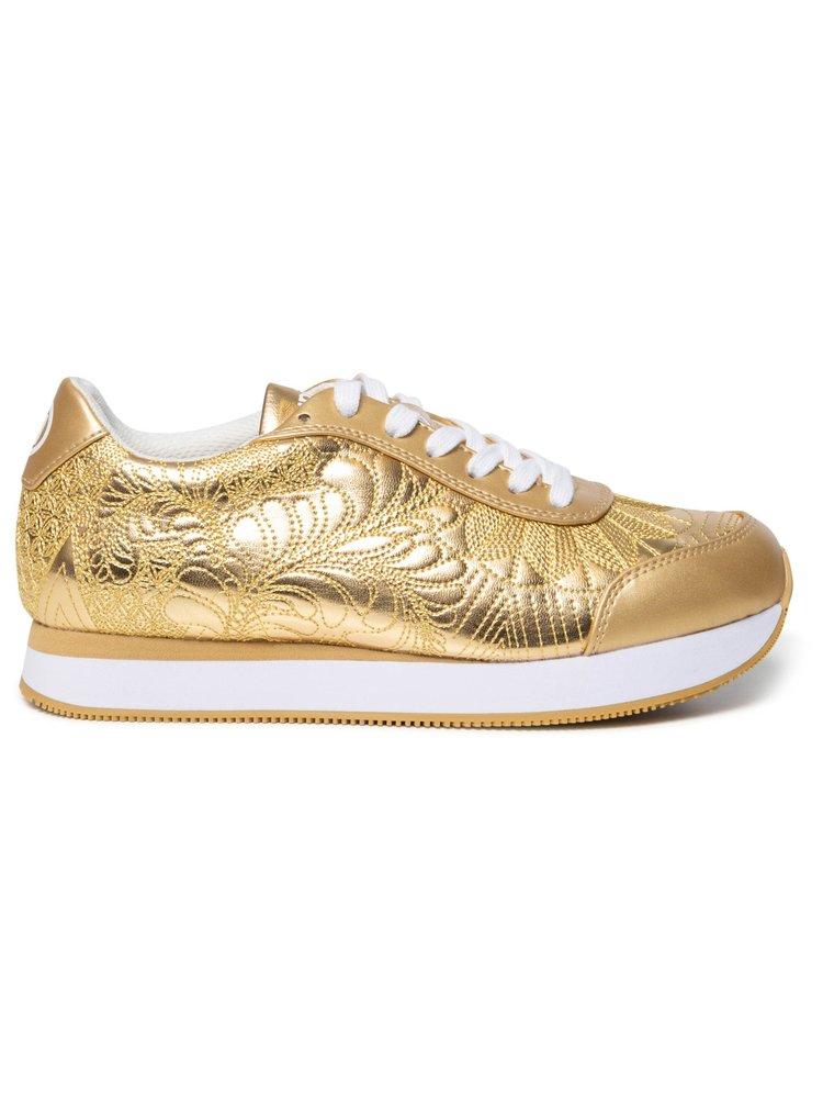 Desigual zlaté tenisky na platformě Shoes Galaxy Lottie