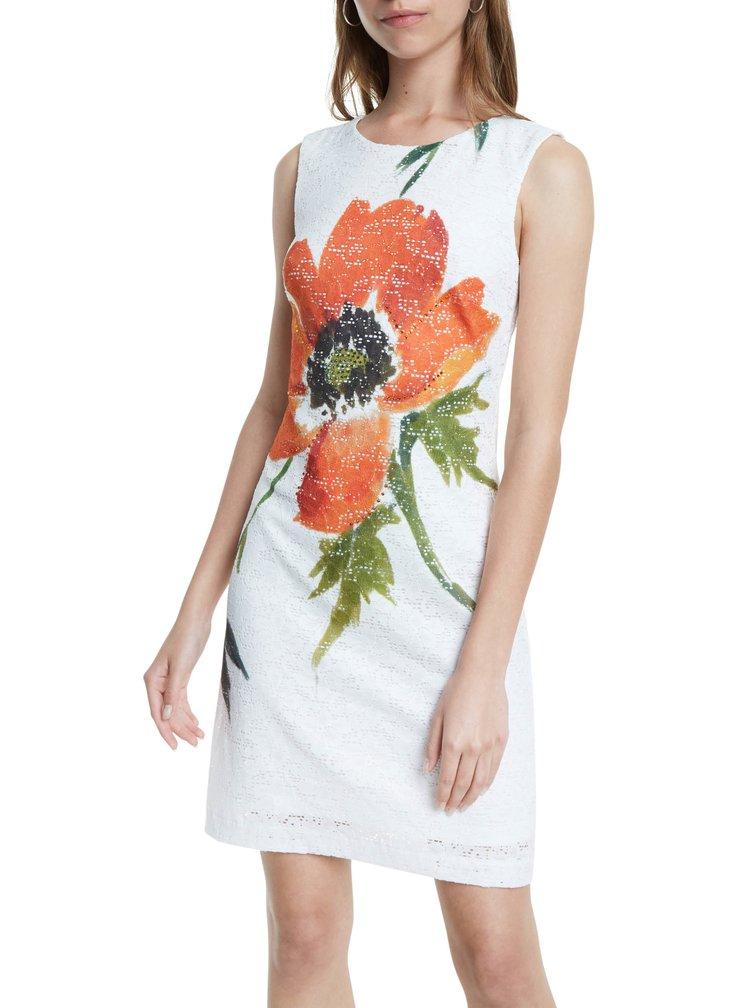 Desigual bílé šaty Vest Eyre