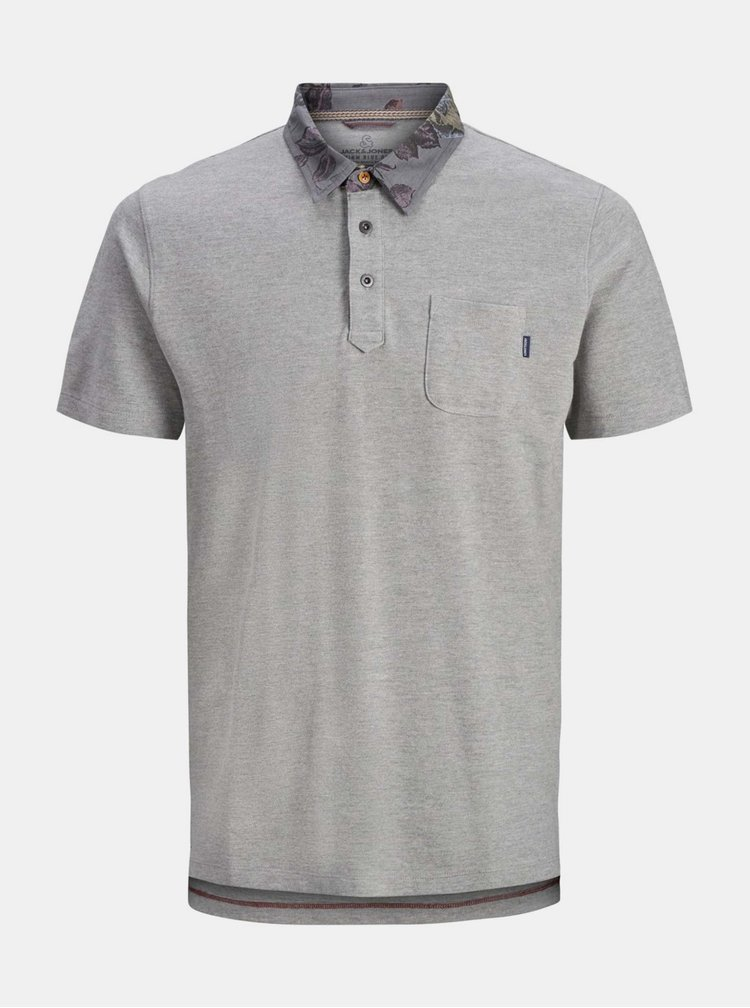 Šedé polo tričko Jack & Jones Darren