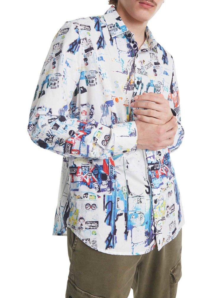 Desigual barevná pánská košile Cam Crispin