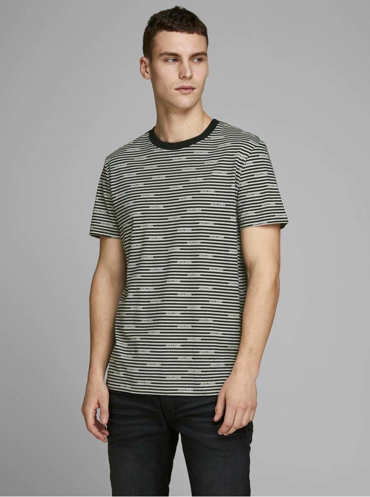 Šedé vzorované tričko Jack & Jones Miks