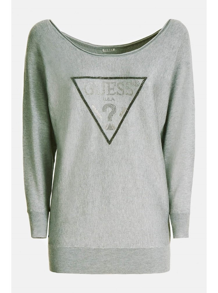 Guess šedý svetr Jewel Sweater