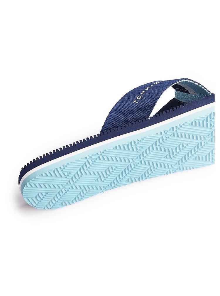 Tommy Hilfiger tmavě modré pánské žabky Massage Footbed TH Beach Sandal