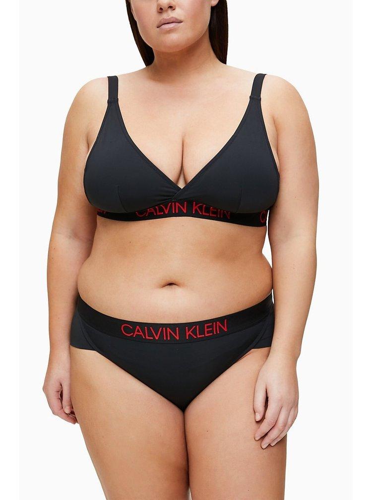 Calvin Klein černý spodní díl plavek Brazilian Hipster Plus Size Black