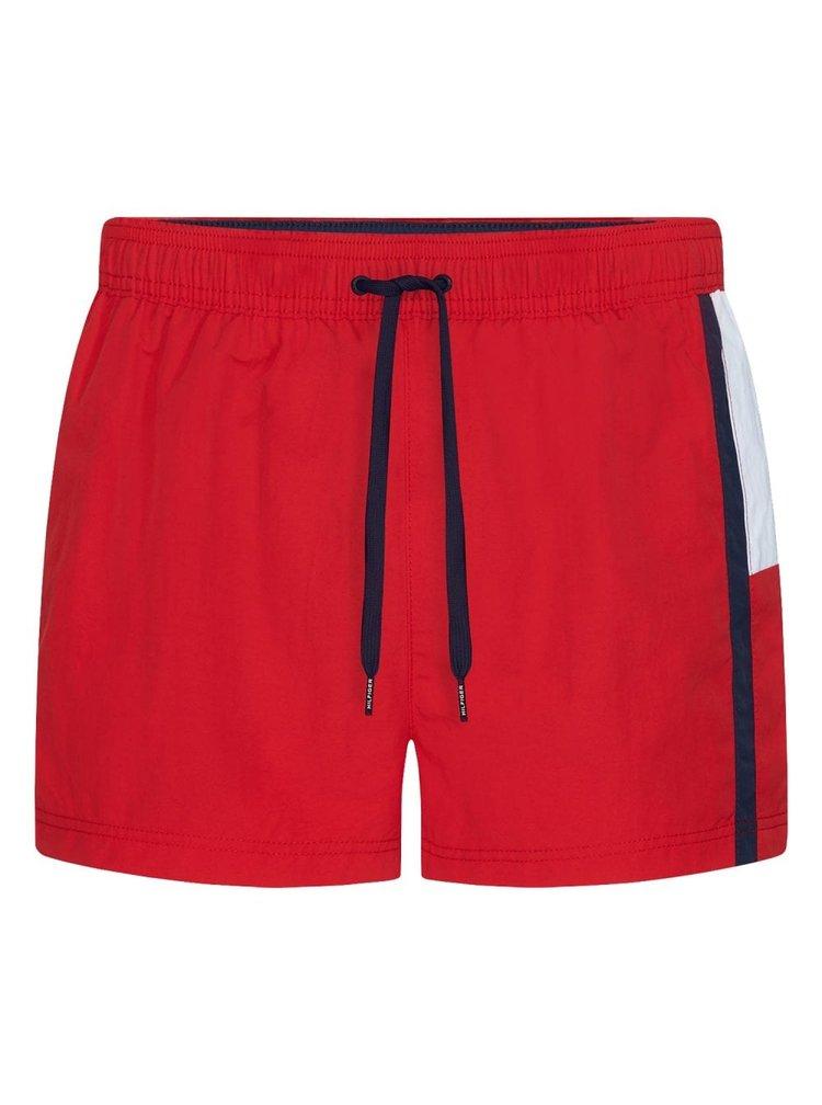 Tommy Hilfiger červené pánské plavky Short Drawstring