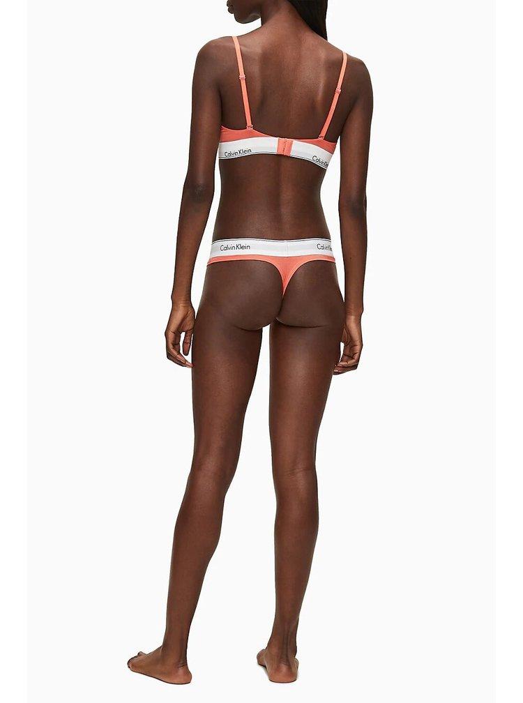 Calvin Klein oranžová podprsenka Lightly Lined Triangle