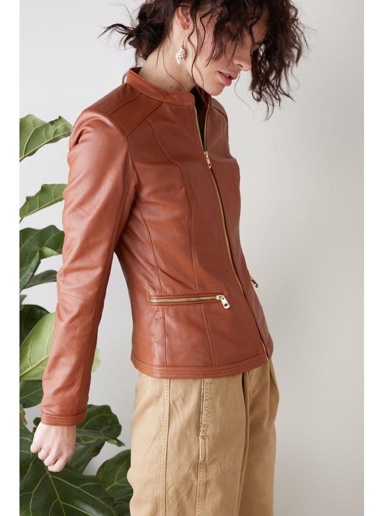 Kara koňaková kožená bunda Ruby