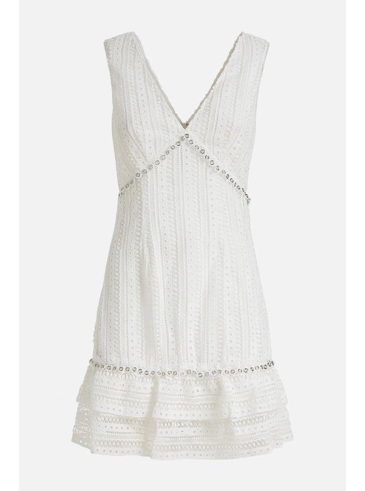 Guess bílé šaty s krajkou