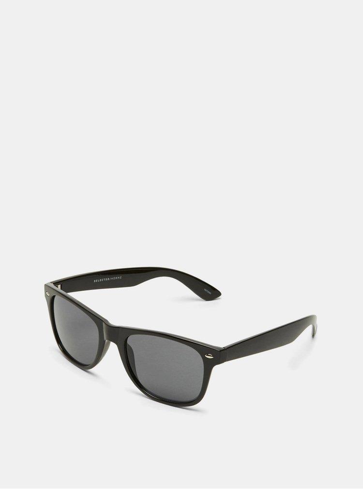 Černé sluneční brýle Selected Homme Lyn