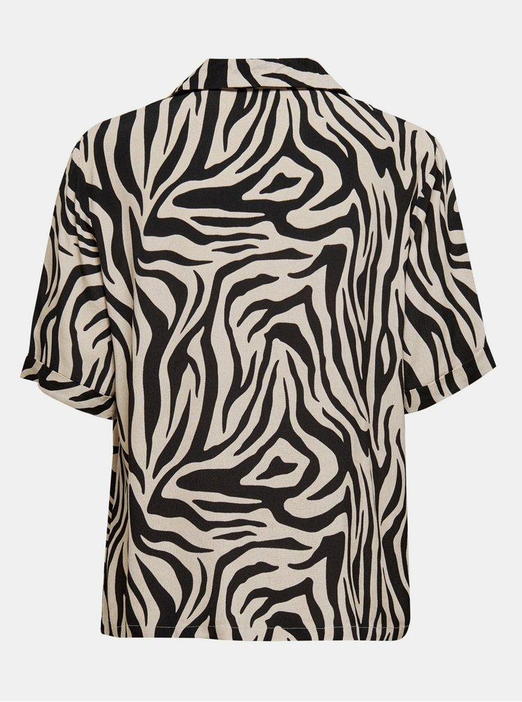 Béžová košeľa so zebrím vzorom Jacqueline de Yong Tara