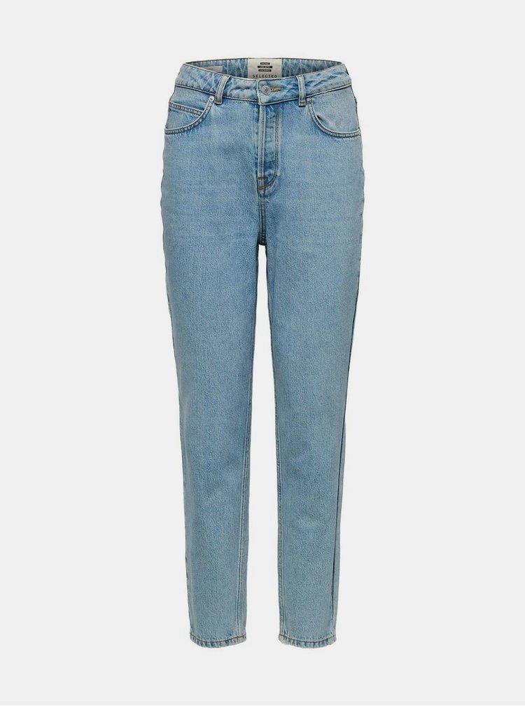 Světle modré mom fit džíny Selected Femme Aruba