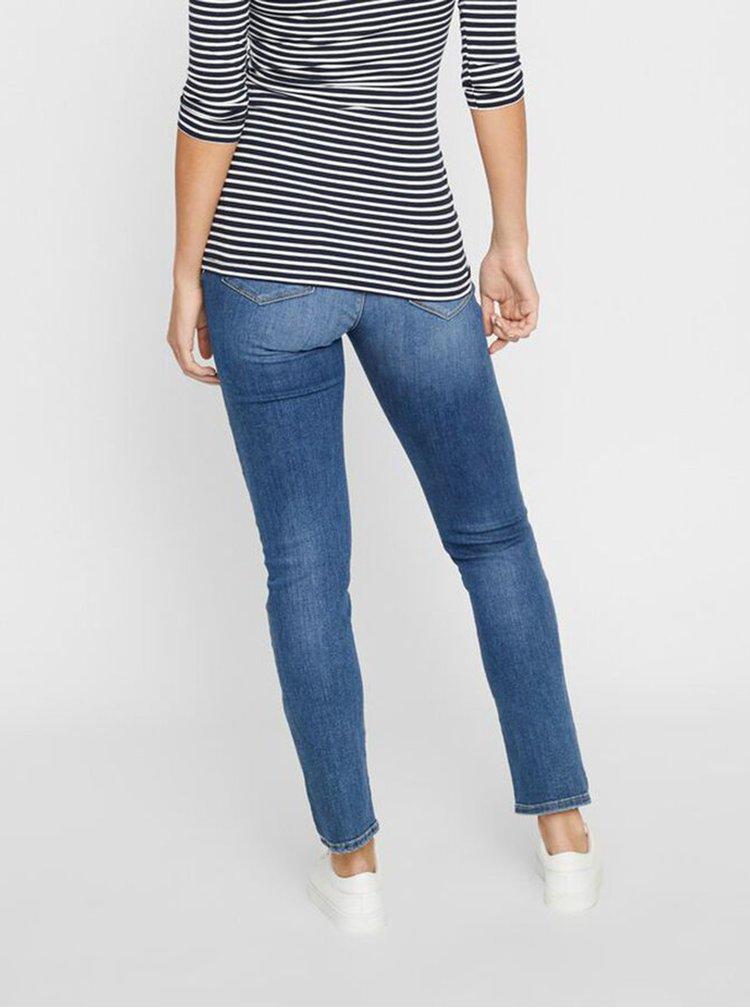 Modré těhotenské straight fit džíny Mama.licious Punta