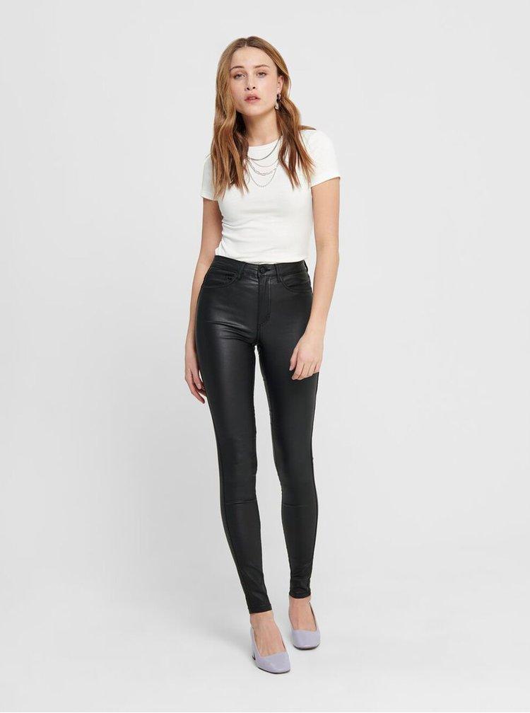 Pantaloni negri skinny luciosi ONLY
