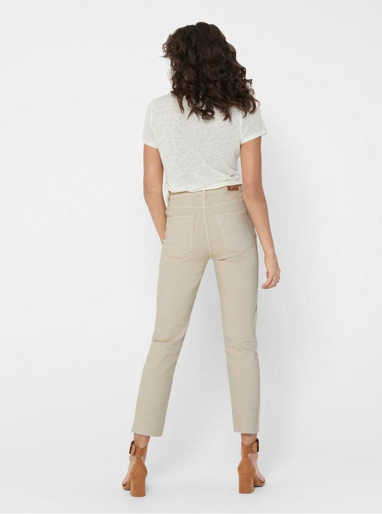 Béžové straight fit džíny ONLY Emily