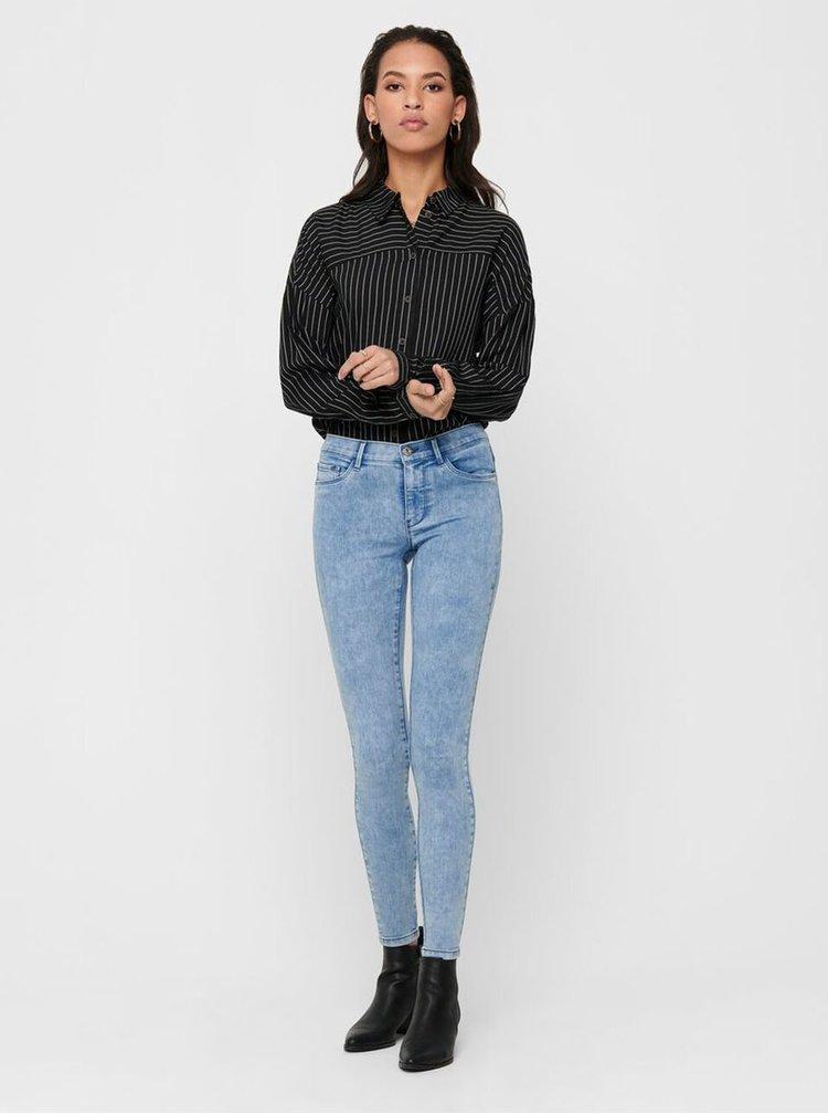 Světle modré zkrácené skinny fit džíny ONLY Rain