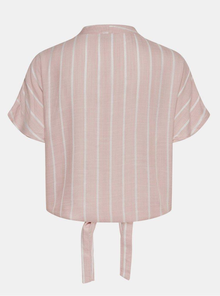 Růžová pruhovaná halenka Jacqueline de Yong Janine