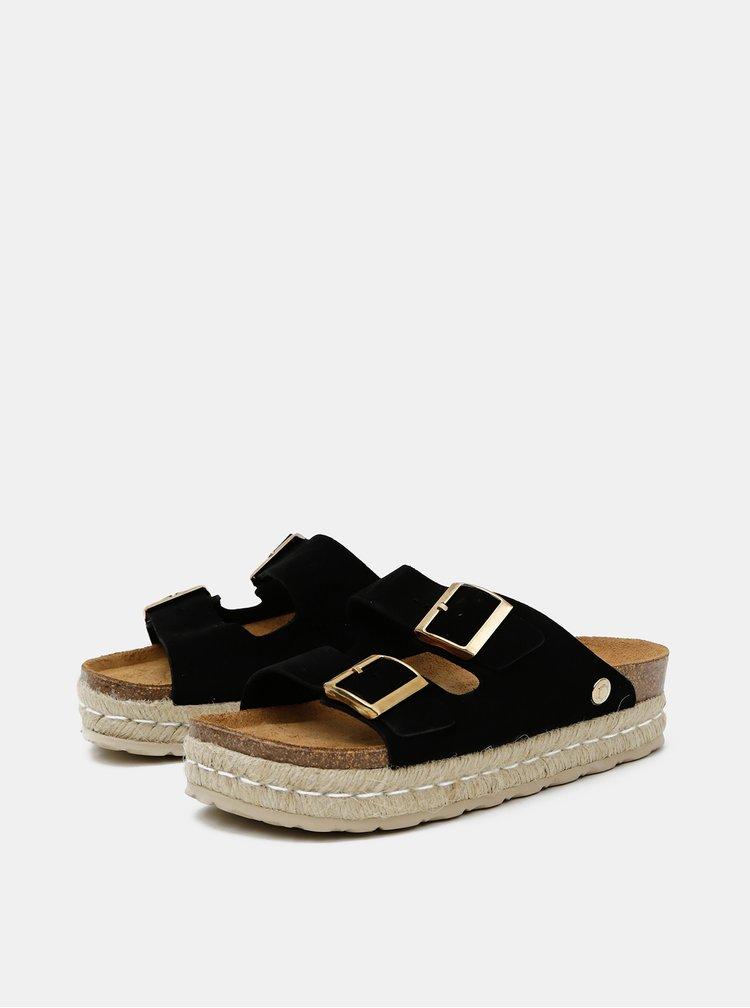 Černé dámské semišové pantofle OJJU