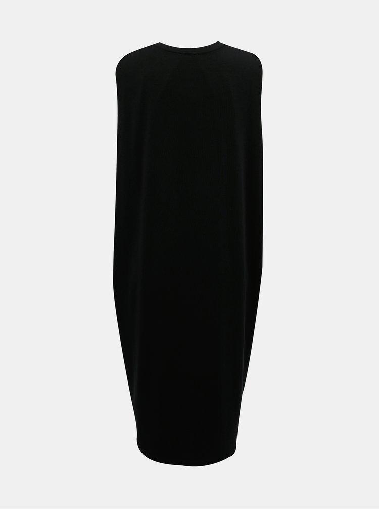 Čierne midišaty Selected Femme Lola
