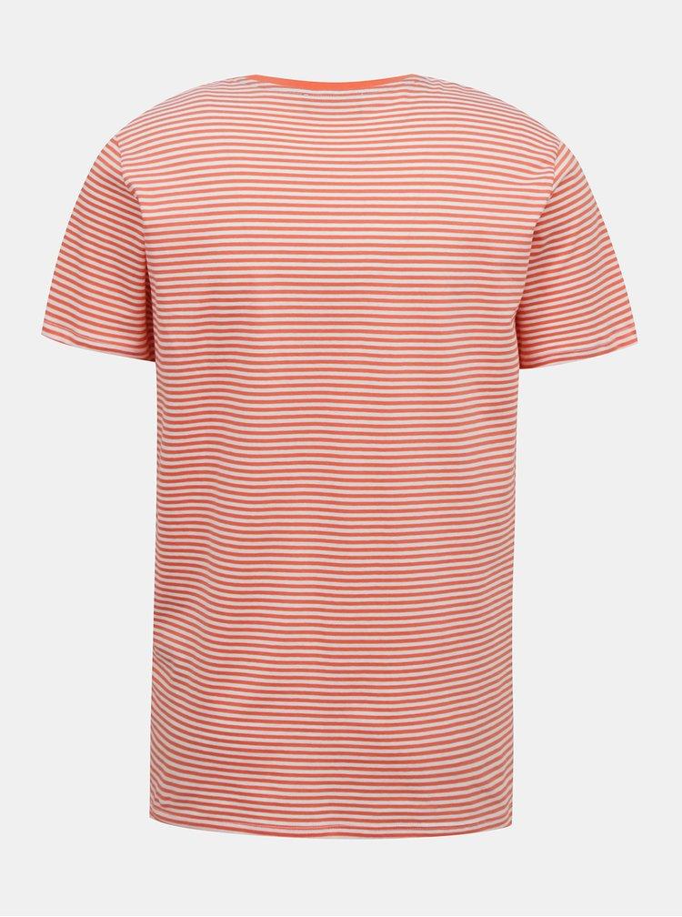 Červené pruhované tričko Selected Homme Wayne