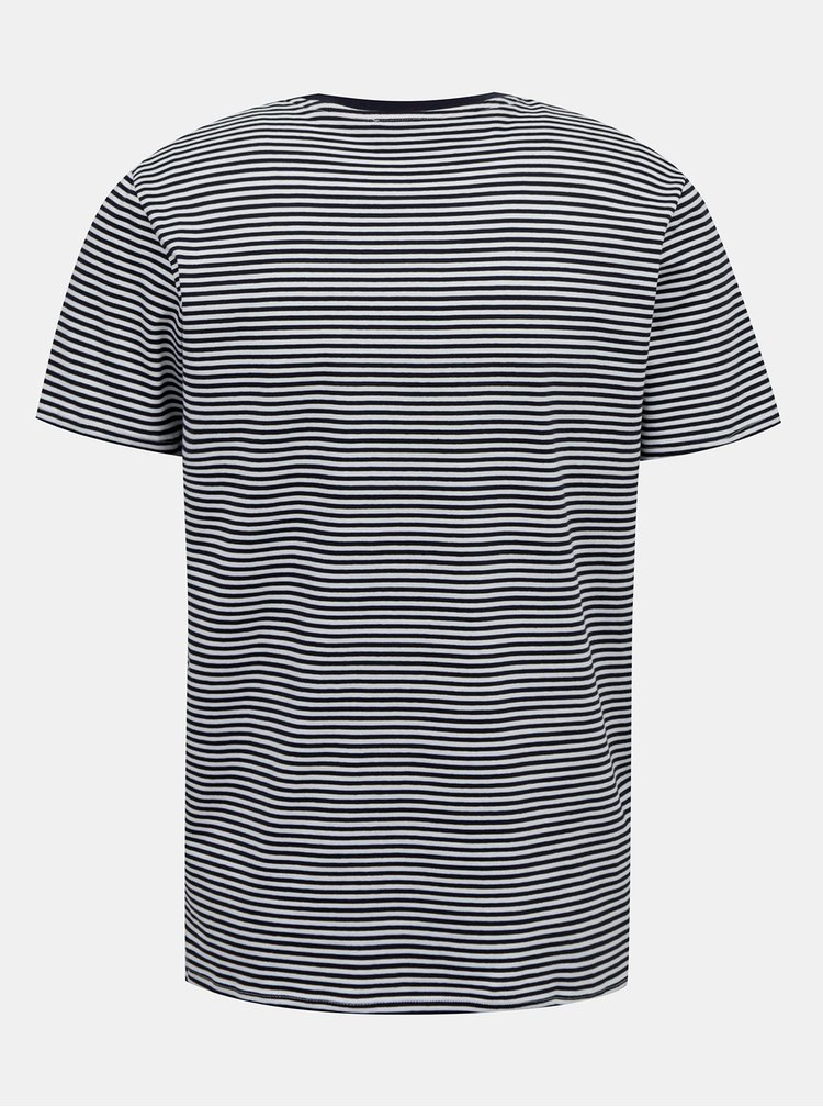 Tmavě modré pruhované tričko Selected Homme Wayne