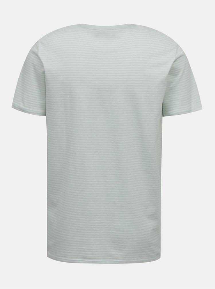 Svetlošedé pruhované tričko Selected Homme Wayne