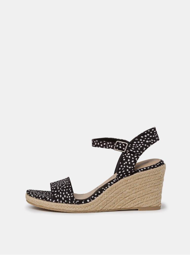 Černé vzorované sandálky Tamaris