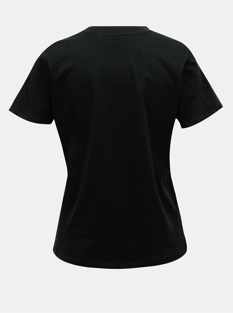 Čierne tričko s potlačou Jacqueline de Yong Diana
