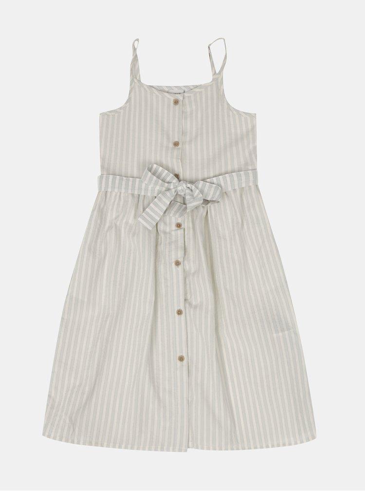 Krémové holčičí pruhované šaty name it Flavia