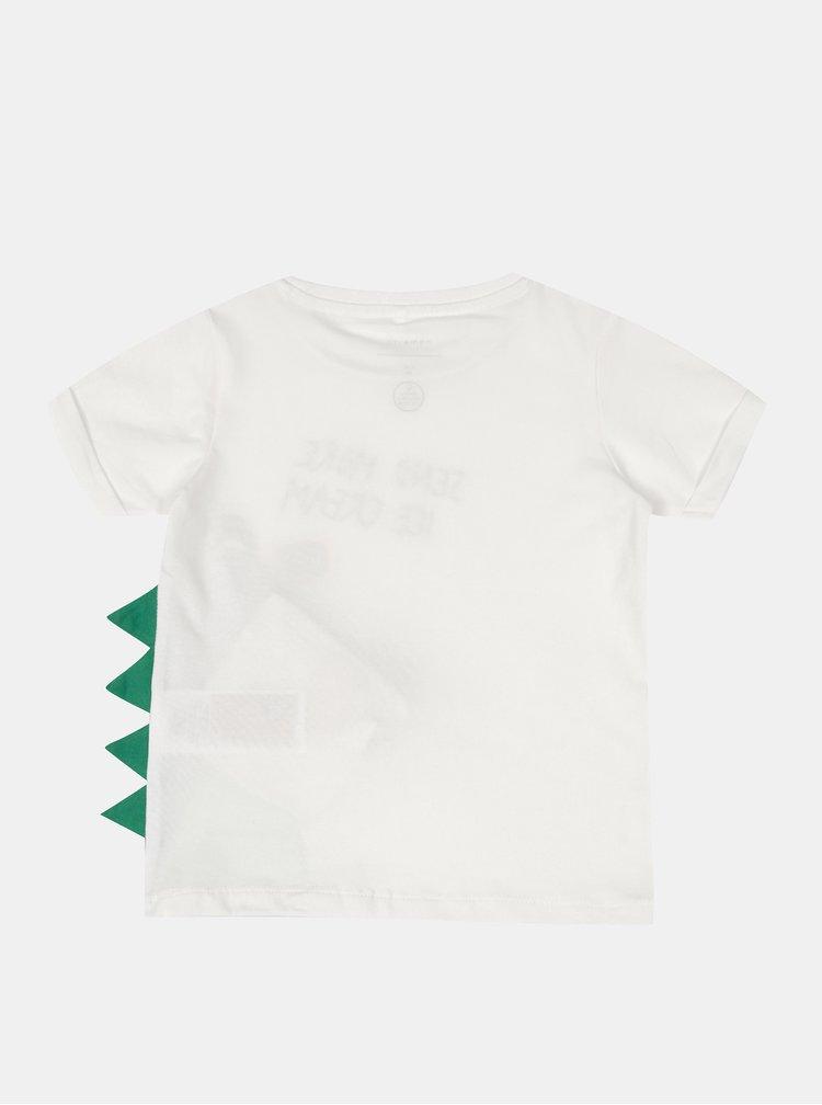 Bílé klučičí tričko s potiskem name it Zanimo