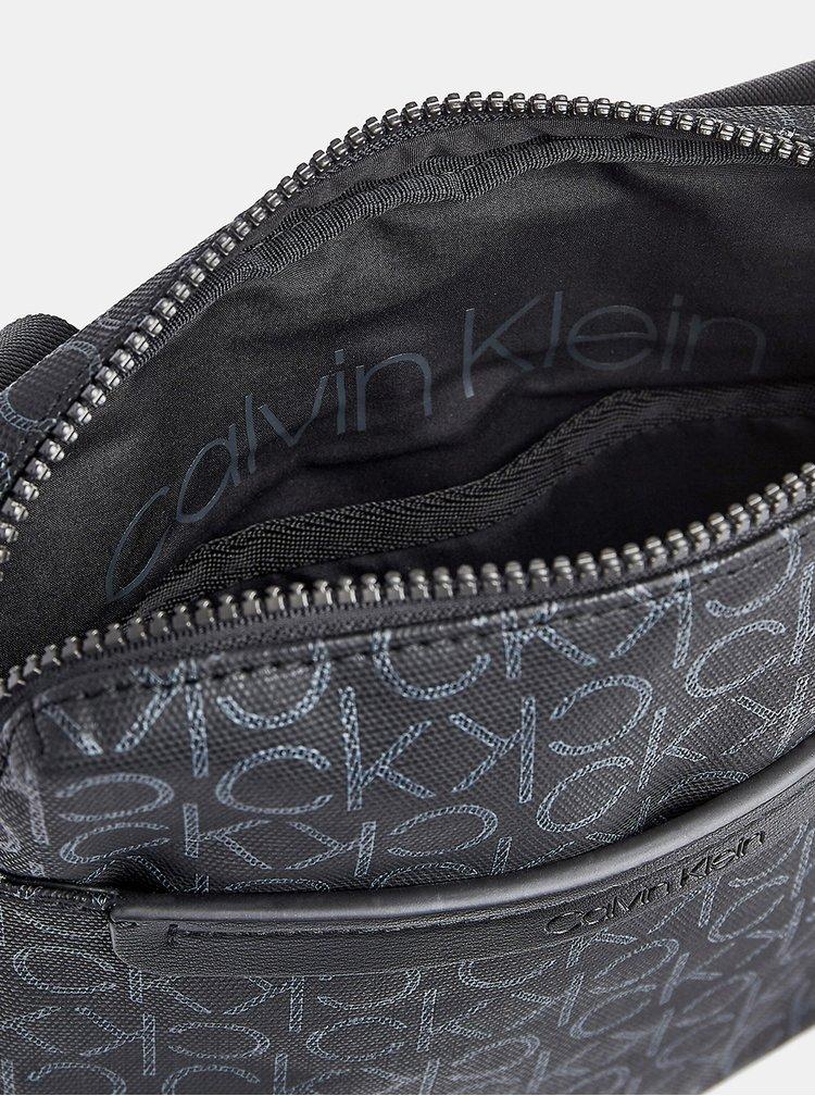 Šedá pánská crossbody taška Calvin Klein Jeans