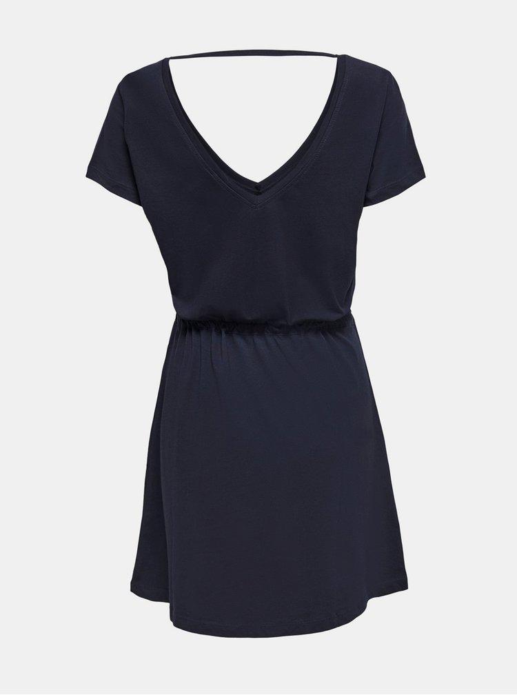 Tmavomodré basic šaty ONLY May
