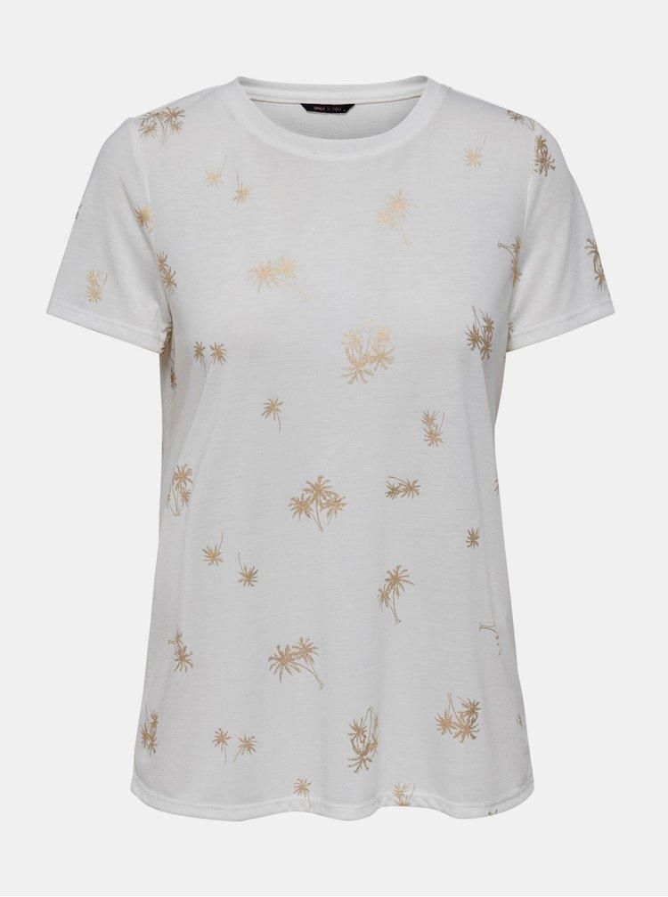 Bílé vzorované tričko ONLY Ibbi