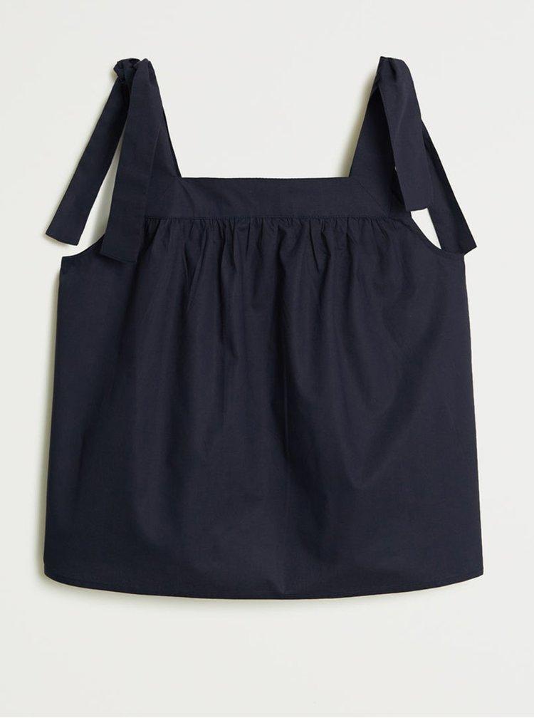 Tmavě modrý volný top Mango Mirto