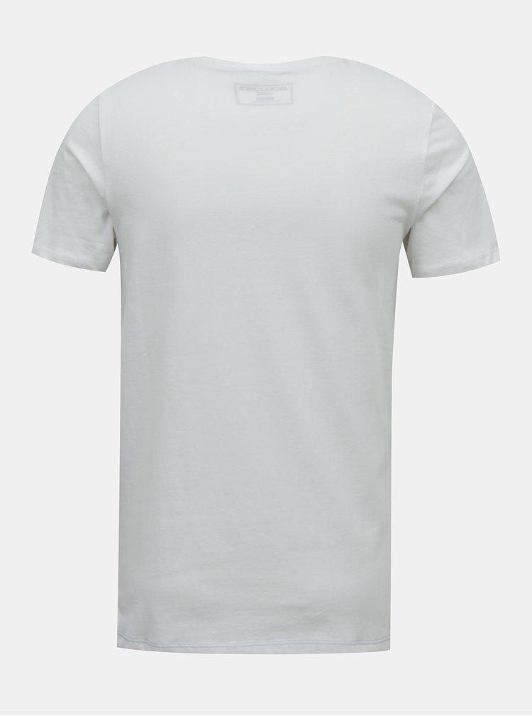 Bielo-modré tričko Jack & Jones Block