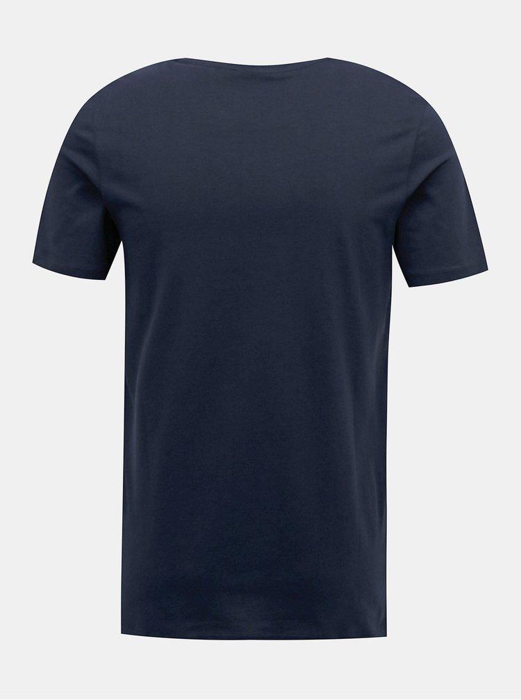 Tmavě modré tričko Jack & Jones Waka