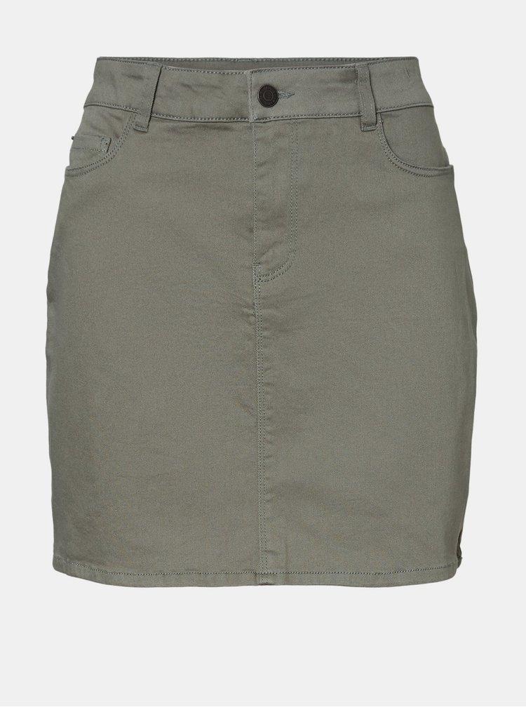 Khaki sukně VERO MODA Hot