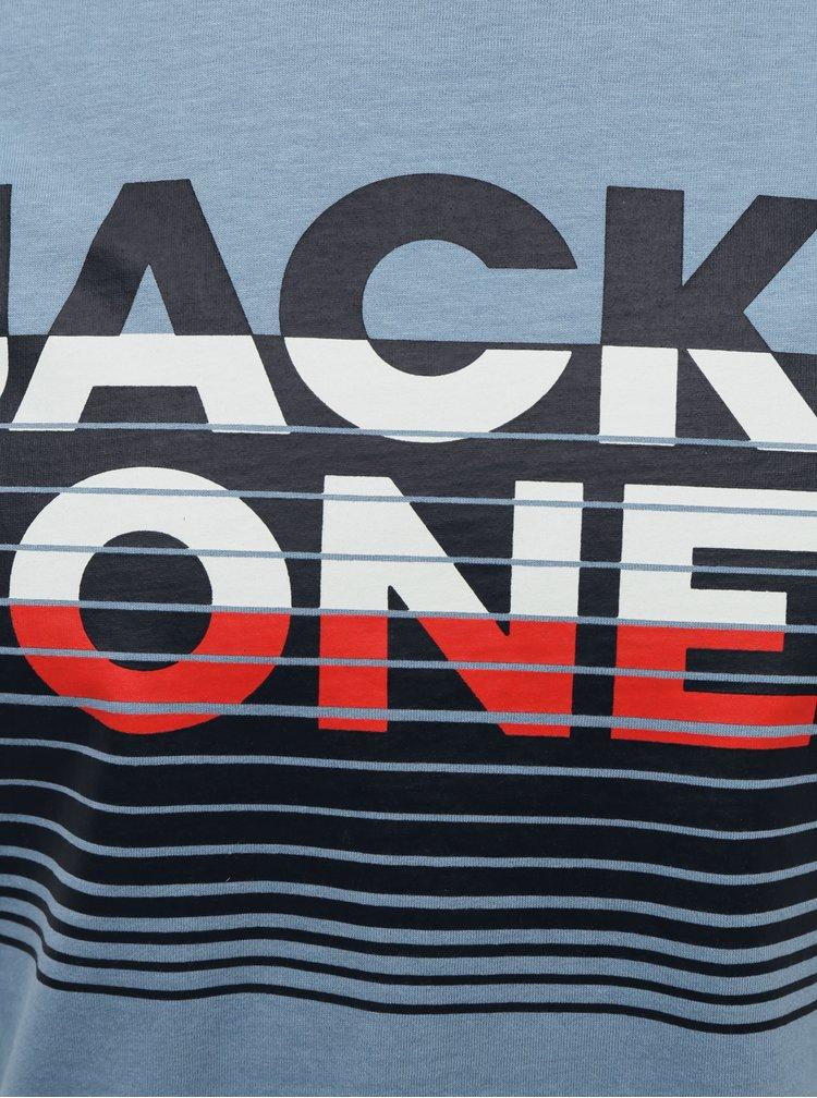Modré tričko Jack & Jones Brix