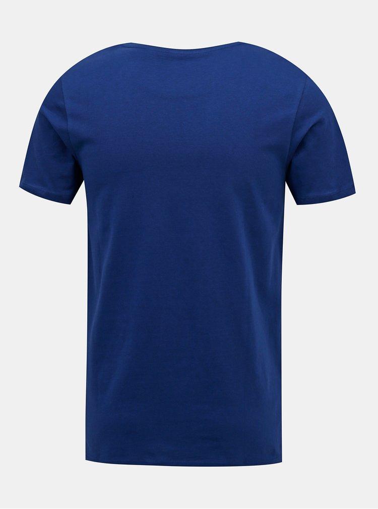 Tmavomodré tričko Jack & Jones Brix