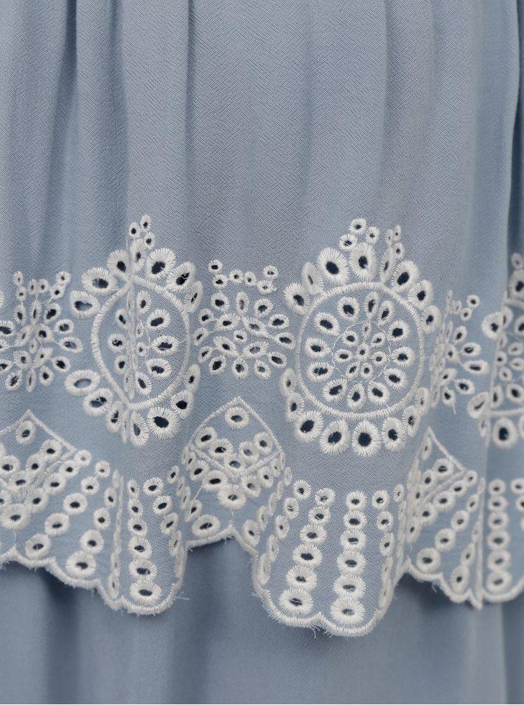 Světle modré šaty s madeirou VILA Latii